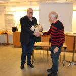Ivar Scotte avtackas av Lars Lindgren 160311